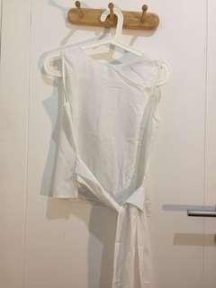 shopatvelvet bow top white