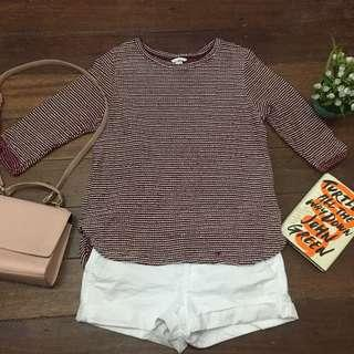 H&M Knitted Maroon Top