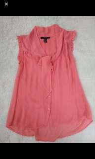 Forever 21 ribbon top pink pastel