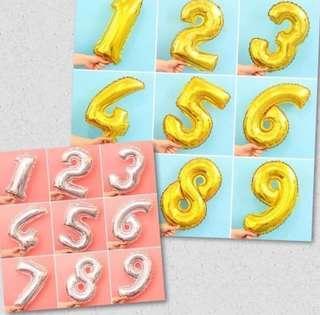 現貨!In Stock! 數字氣球 生日 Number balloon birthday