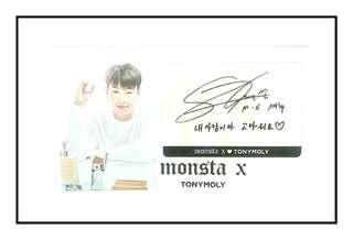 MONSTA X TONY MOLY HAND CREAM PHOTOCARD