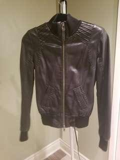 Macakge Jerry Bomber Black Lamb  Leather Aritizia Jacket XS