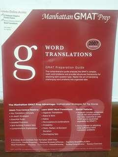 Manhattan GMAT Prep - Word Translations (2007 Edition)