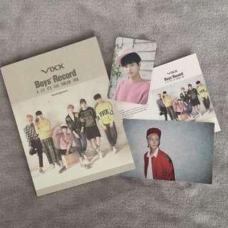 VIXX Boys' Record - Kpop Album CD + Photobook + N Photocard + Ravi Photograph
