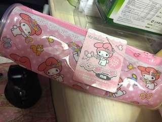 [全新包郵] My Melody 日版圓筒 膠筆袋 sanrio 美樂蒂