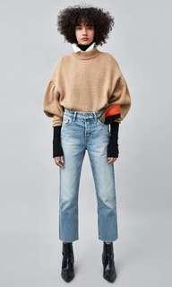 Straight cut high rise Zara jeans