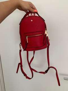 Red mini back pack