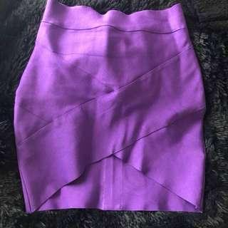 Body Con Purple Skirt Size 10
