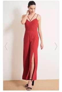 Red jumpsuit size 6