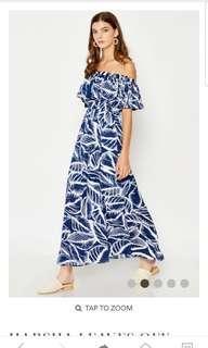 🚚 HARSHA LEAVES OFF-SHOULDER MAXI DRESS Size XS