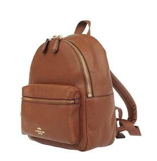 FINAL PRICE DROP!!! BNWT Coach Saddle F38263 Charlie Saddle Tan Leather Backpack