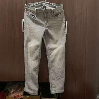 🚚 🧧CK淺灰刷白直筒牛仔褲