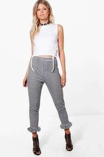 Gingham Frill Pants