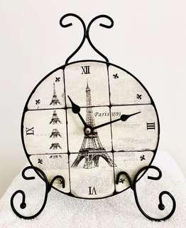 Rustic Paris 1889 Clock
