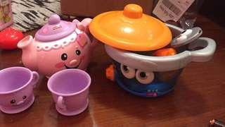 Leap Frog Pot and Fisher Price Tea Pot (PLS READ DESCRIPTION)