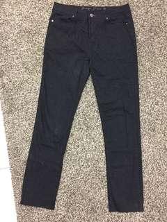 Straight cut black pants