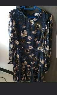 Reiss floral long sleeve dress UK8 brand new!