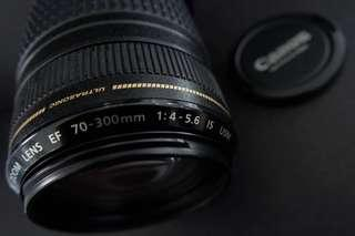 Canon EF 70-300mm f/4-5.6 IS USM telephoto lens for sale