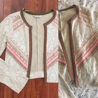 REDUCED! Miss Selfridge Aztec Lace Cardigan Jacket