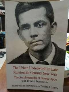 (AUTOBIOGRAPHY) The Underworth in Late 19th Century NY
