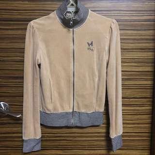 Mango MNG Tan Velvet Jacket