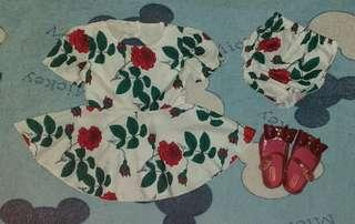 Free Shipping! NEW Baby Dress & Shoes Set
