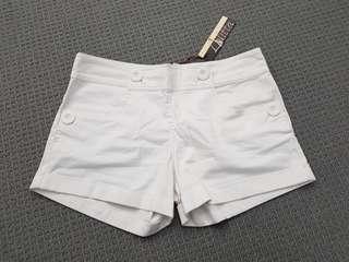 White Shorts Size 10