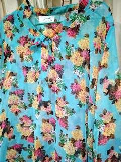 Gaudi floral shirt blue