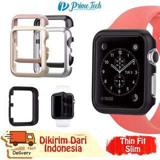 bumper case for apple watch series 3 38mm warna silver saja