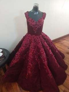 For Rent Red Ball gown