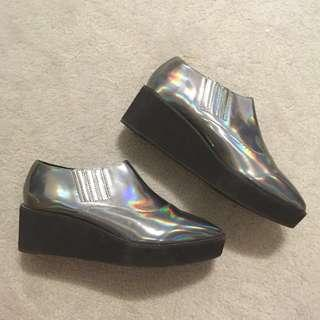NEED GONE Urban Outfitters pointy holographic creepers