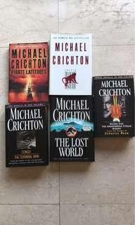 Michael Crichton books in hard cover (assorted titles)