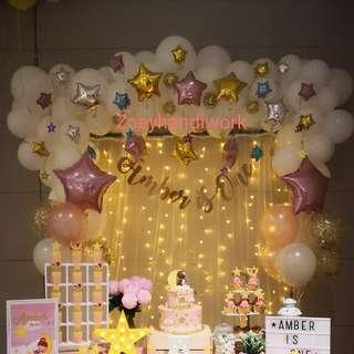 Balloon garlands - twinkle star theme