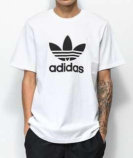 4245209ac Adidas trefoil tee in white / adidas originals T-shirt