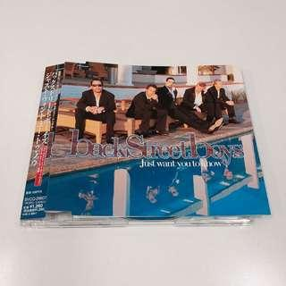 BACKSTREET BOYS Just Want You To Know 日版 CD Single 附側纸