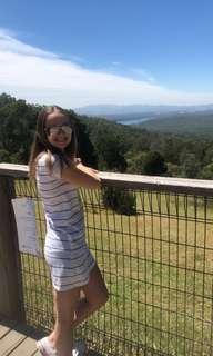 Size 8 striped dress