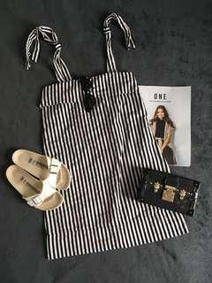 Stripes Adjustable Dress