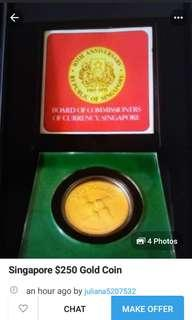 1975 10th anniversary gold coin