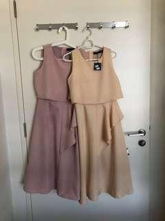 Brand new dress in beige and pink