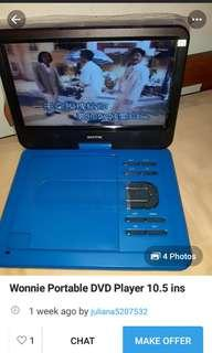 Dvd player 10.5 inches