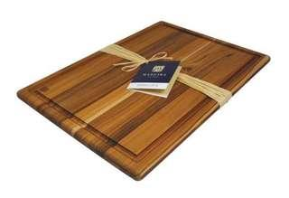 Brand New Madeira Teak-Edge Grain XL Carving Board