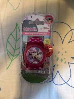Minnie Mouse flashing musical digital watch