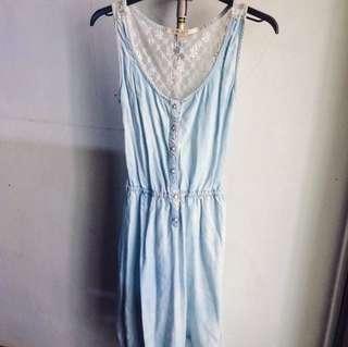 Reprice Pull & Bear Denim Lace Dress