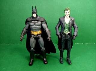 "DC Comics Batman and Joker 7"" inch action figure 蝙蝠俠 小丑"