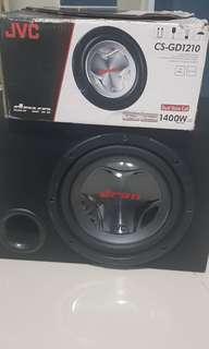 """12"""" JVC Dual Voice Coil Woofer + Punch Monoblock Amp"""