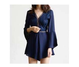 🚚 (BN) Romper Shorts - Navy blue