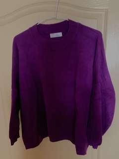 🚚 全新-韓國製紫色毛衣