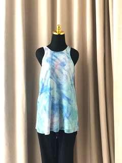 Forever New Zara topshop style halter blue ombre top