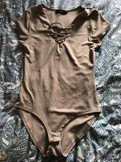 Tan bodysuit
