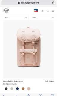 LOOKING FOR Herschel Pink Bag in these Designs